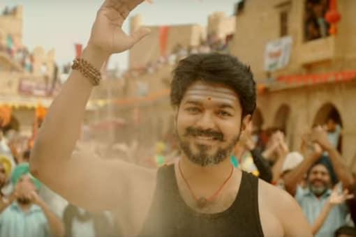 A still of actor Vijay from Mersal.