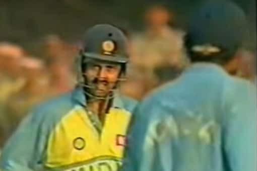 A video grab of Manoj Prabhakar from the match between India and West Indies. (Youtube)