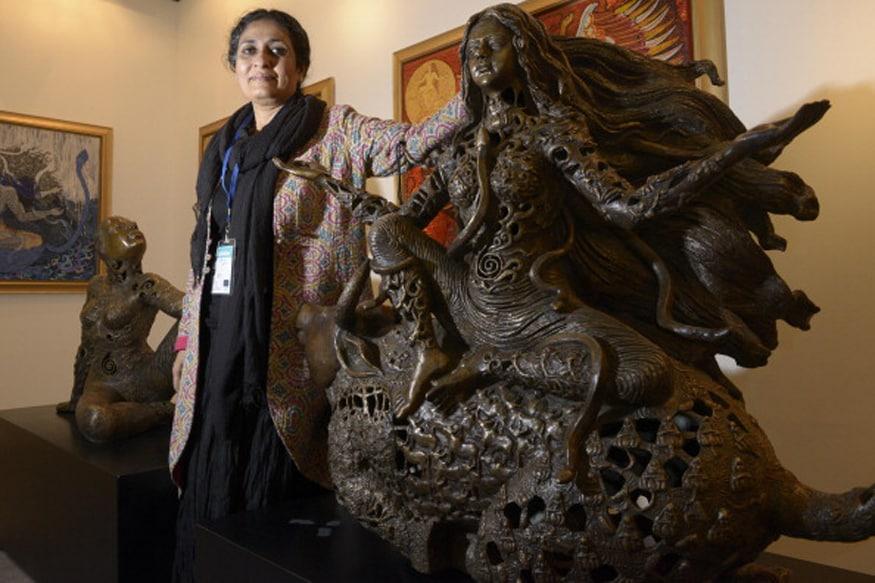 Image result for Artist Seema Kohli Takes her Spiritually Inspired 'Celestial Revelations' to Museum of Sacred Art in Belgiumst