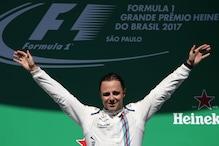 Felipe Massa Bids Farewell to Brazilian Fans From the Podium
