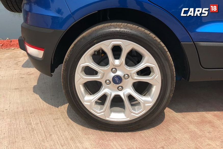 2018 Ford EcoSport gets new wheel design. (Photo: Siddharth Sharma/News18.com)