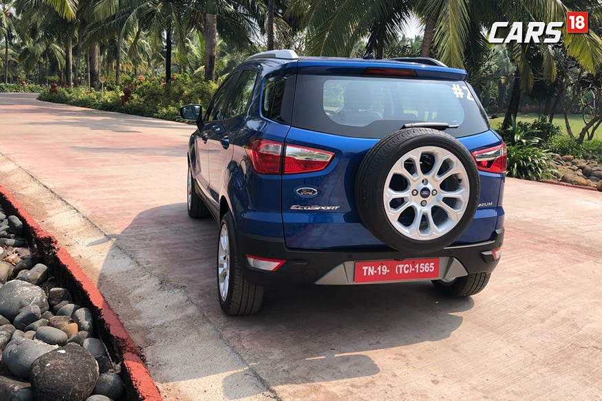 2018 Ford EcoSport from the back. (Photo: Siddharth Sharma/News18.com)
