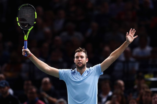 Jack Sock celebrates after his win. (Getty Image)