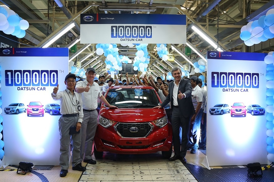 100,000th Datsun Car in India. (Image: Datsun)