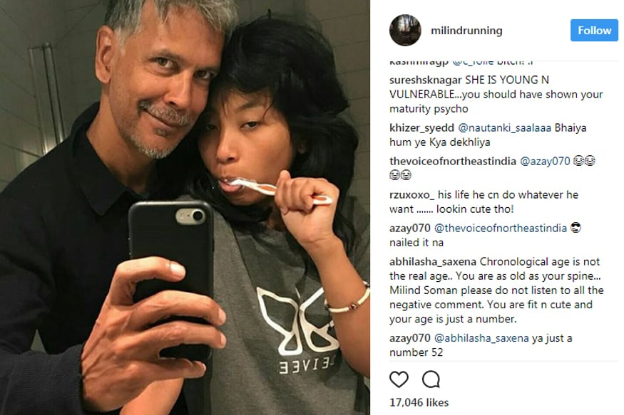 Milind Soman Posts Another Selfie With Girlfriend Ankita -2377