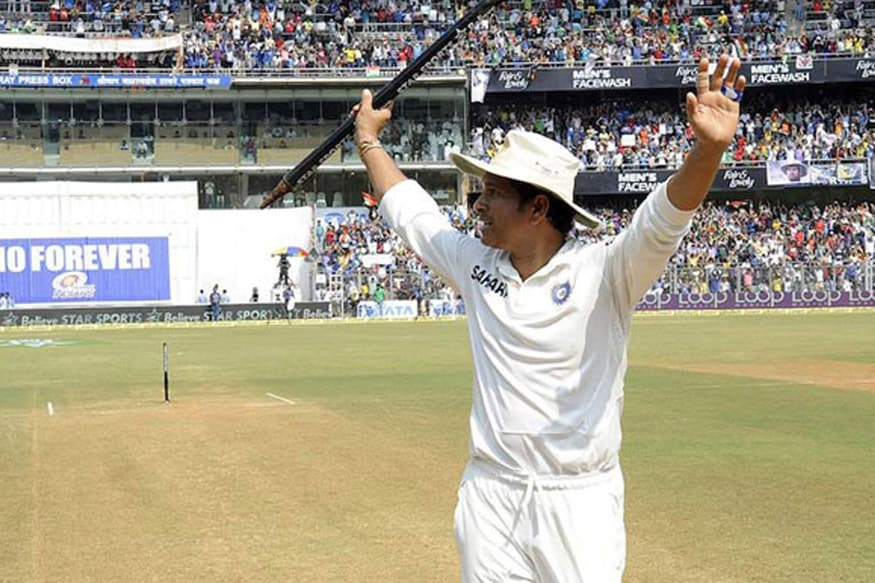 File image of Sachin Tendulkar acknowledging the crowd after his final Test. (BCCI Image)