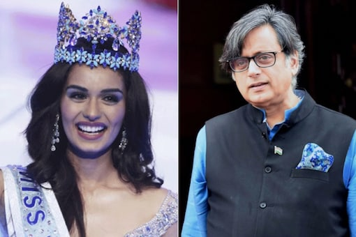 Shashi Tharoor's pun on Manushi Chhillar did not go down well with social media users.