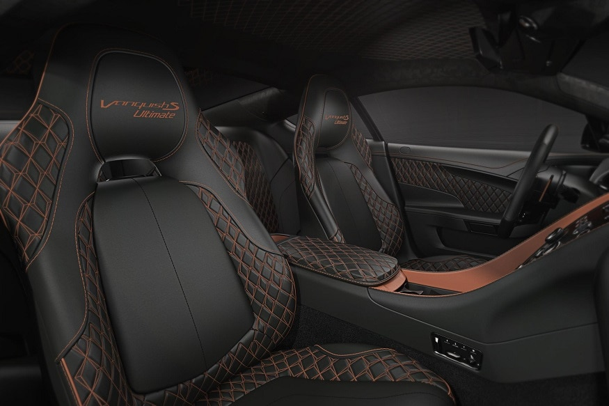 Inside the Aston Martin Vanquish S Ultimate edition. (Image: AFP Relaxnews)