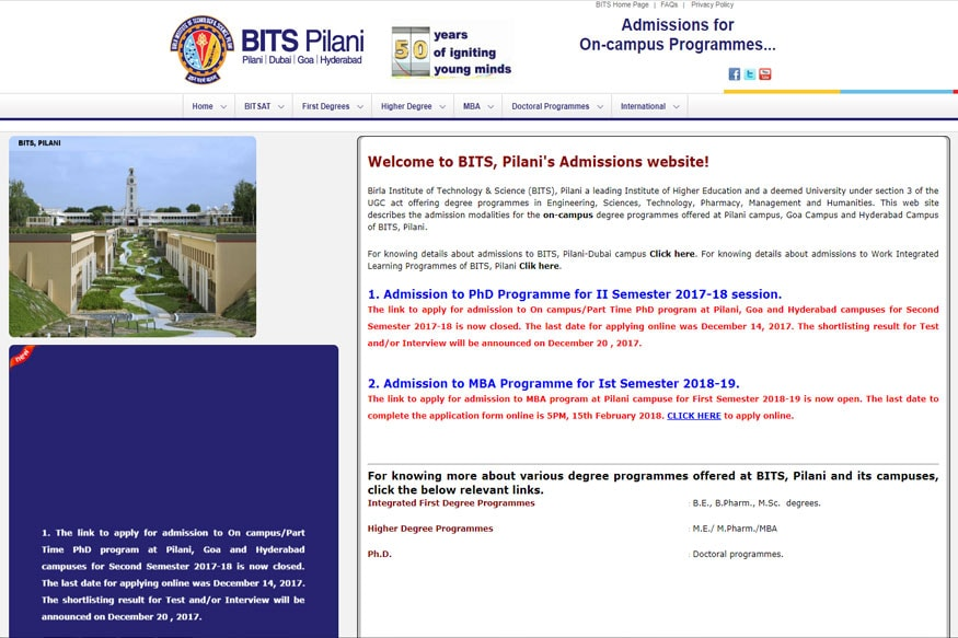 BITSAT 2018 Online Application Process Begins Today at bitsadmission on application to be my boyfriend, application to rent california, application error, application meaning in science, application to join a club, application trial, application in spanish, application to date my son, application for rental, application approved, application insights, application template, application database diagram, application service provider, application for employment, application cartoon, application to join motorcycle club, application clip art, application for scholarship sample, application submitted,