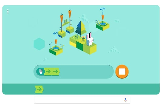 Google Doodle celebrates the 50th anniversary of first ever kids programming language. (Image: Google)