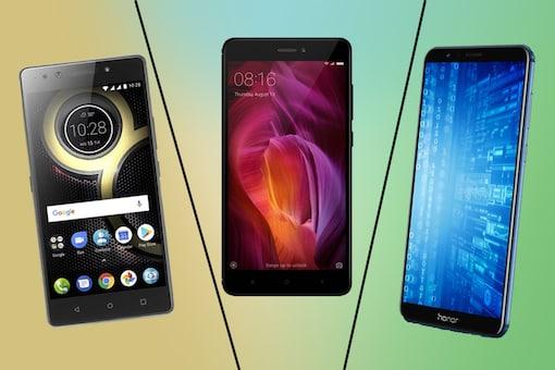 Honor 7X vs Redmi Note 4 vs Lenovo K8 Note (R-L) - Specs Comparison. (Image: News18.com)