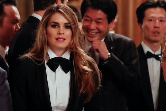 File photo of White House Communications Director Hope Hicks (Reuters)