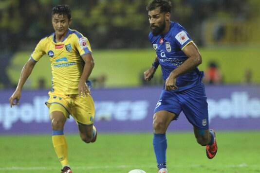 Balwant Singh in action for Mumbai City FC. (ISL 2017)