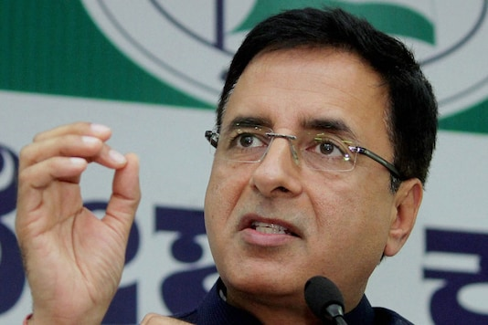 File photo of Congress communications in charge Randeep Surjewala.  (Image: PTI)