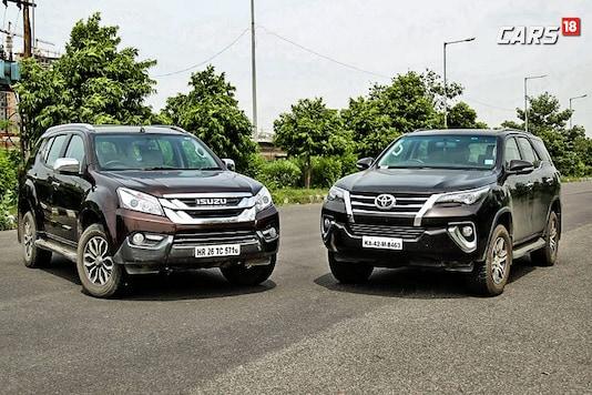 Toyota Fortuner and Isuzu mu-X. (Image: Siddharth Safaya/News.com)