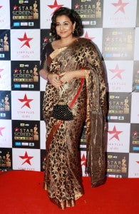 Vidya Balan poses for a photo on her arrival at the Star Screen Awards in Mumbai. (Image: Yogen Shah)