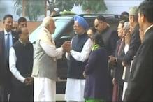 PM Modi, Manmohan Singh Shake Hands at Parliament After Severe War of Words