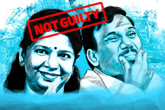 Both DMK leaders A Raja and Kanimozhi have been acquitted in the 2G case.  (Network18 Creatives)