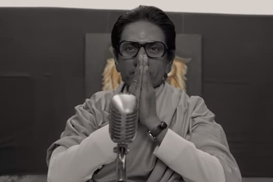 Nawazuddin Siddiqui on the sets of Shiv sena founder Bal Thackeray's biopic. (Image: Special Arrangement)