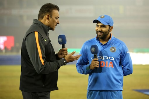 Ravi Shastri interviews Rohit Sharma(Courtesy: BCCI/Twitter)