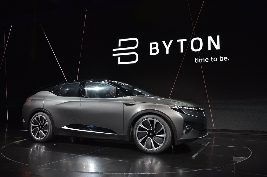 The Byton car will use facial recognition to unlock and adapt to the driver and offer a range of other ways to interact including voice control with Amazon Alexa, touch and gesture. (Image: AFP Relaxnews)