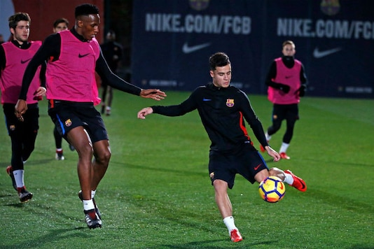 Philippe Coutinho in training at FC Barcelona (Image: FC Barcelona/FB)