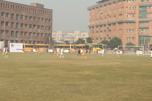 Action from the Santosh Trophy match between Punjab and Jammu and Kashmir (Image: News18)
