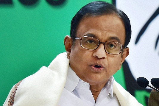 File photo of Congress leader and former Finance Minister P Chidambaram. (PTI)