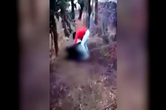 A video grab shows Shambhulal Regar beating up Afrazul. (Image: CNN-News18)