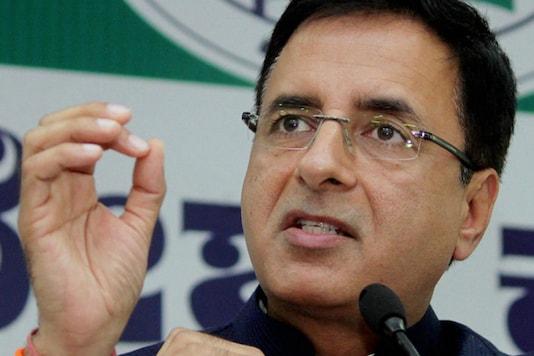 File photo of Congress' chief spokesperson Randeep Surjewala. (Image: PTI)