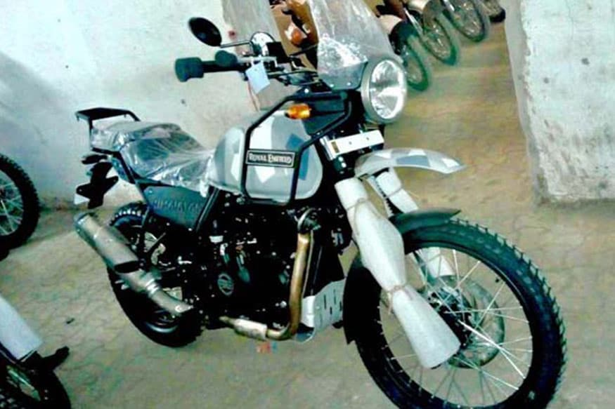 royal enfield himalayan spotted in camouflage color scheme launch