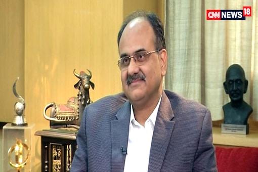 UIDAI Chief AB Pandey. (TV grab)