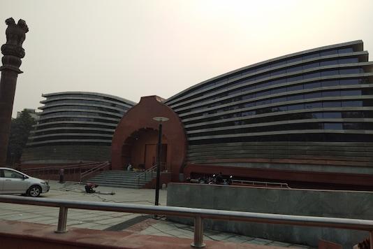 The under construction Ambedkar Museum in Delhi. (Image: News18)