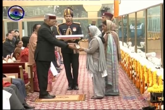 The award was received by Corporal Nirala's wife Sushmanand and his mother Malti Devi at the majestic Rajpath (TV Grab)