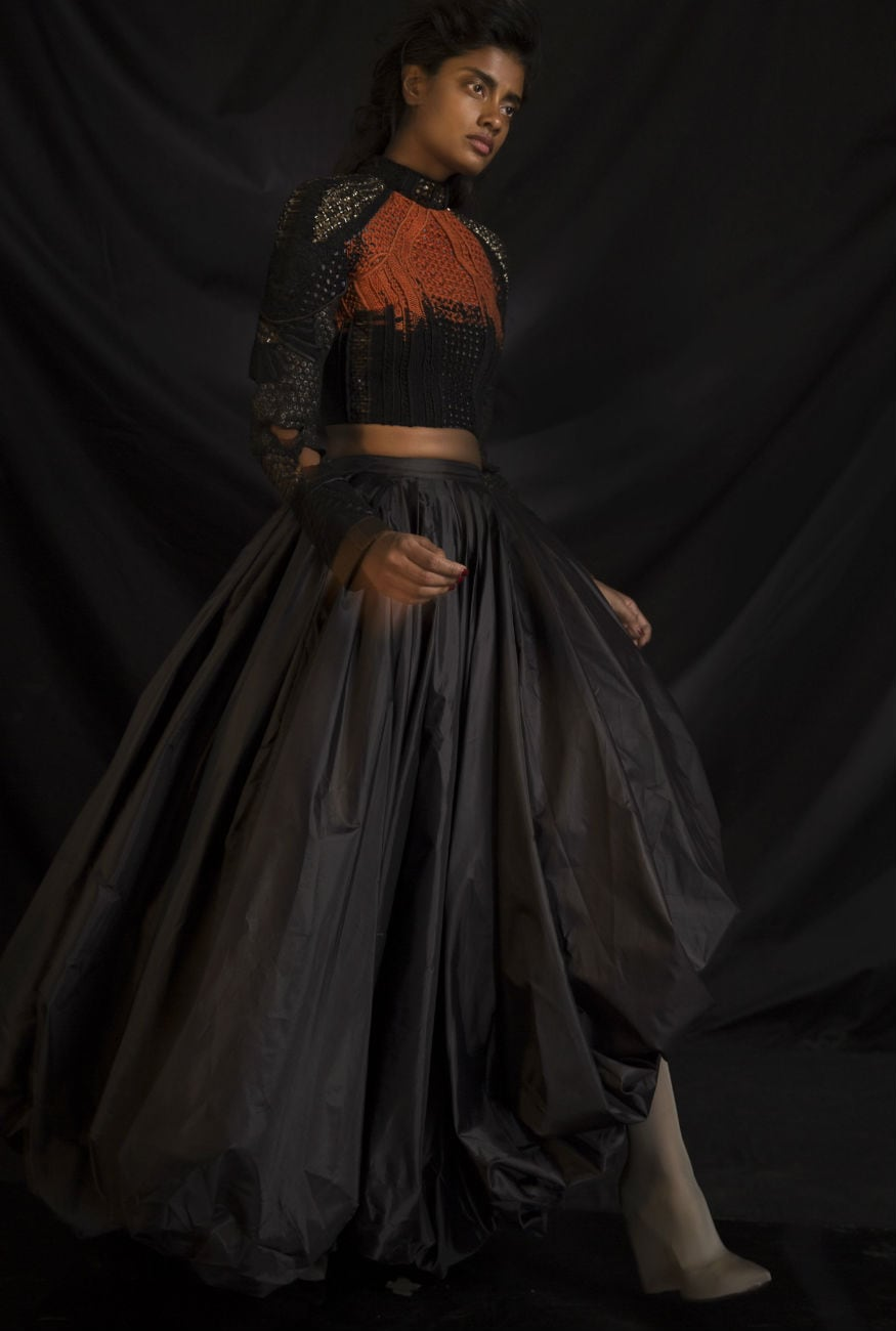 (Photo: Black outfit suggested by designer duo Saaksha & Kinni in solidarity with the black fashion movement)