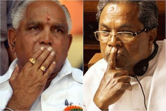 File photos of Karnataka CM BS Yediyurappa (L) and  Congress leader Siddaramaiah.
