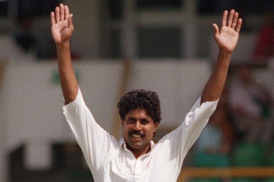 Kapil Dev celebrates after picking up a wicket. (AFP Photo)