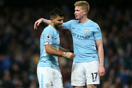 Kevin de Bruyne and Sergio Aguero (Image: Man City/Twitter)