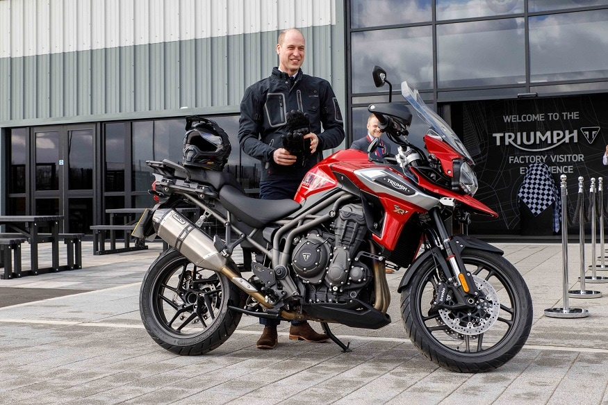 Prince William with Triumph Tiger 1200. (Image: Triumph)