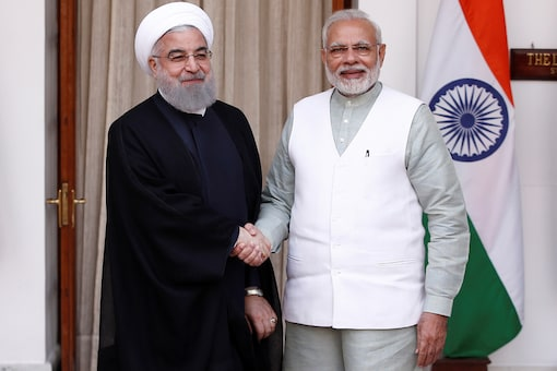 File photo of Iranian President Hassan Rouhani shaking hands with Prime Minister Narendra Modi. (Reuters)