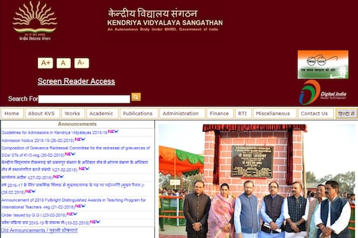 Screengrab taken from the official website http://kvsangathan.nic.in/