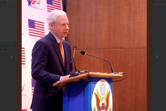 US Ambassador Kenneth I Juster addresses the Bengal Chamber of Commerce and Industries (BCCI) in Kolkata on Wednesday. (Photo courtesy: US Consulate Kolkata@USAndKolkata)