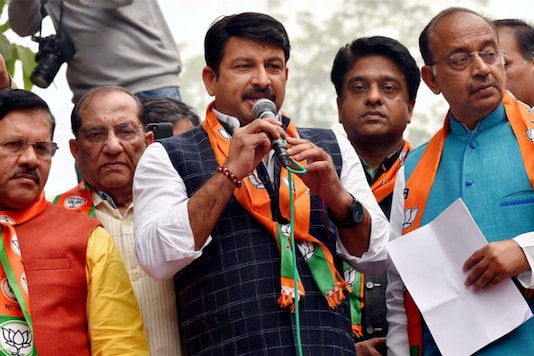 File photo of Delhi BJP president Manoj Tiwari.