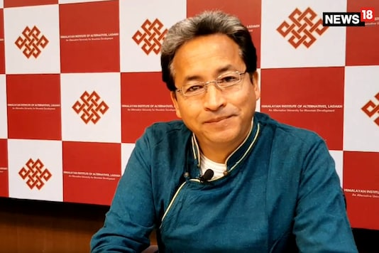Sonam Wangchuk is widely known around the world for his invention of the Ice Stupa artificial glaciers. For this he won the prestigious Rolex Award Enterprise in Hollywood in November 2016.(Image: Debashis Sarkar/ News18.com)