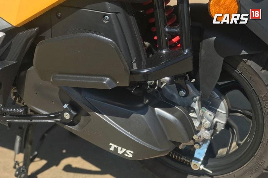 TVS Ntorq 124.79cc engine. (Image: Ayushmann Chawla/ News18.com)
