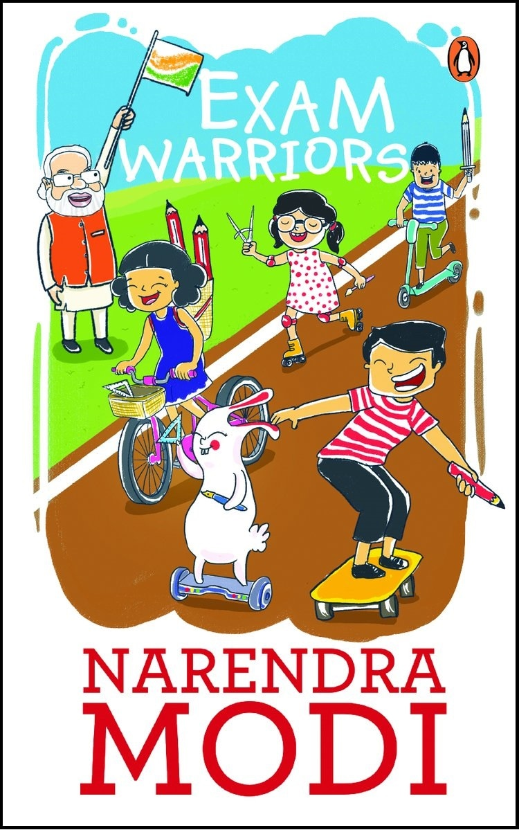 Cover of Prime Minister Narendra Modi's book Exam Warriors.
