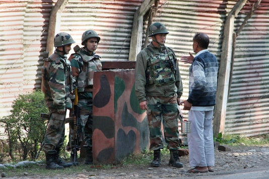 Security forces had launched a final assault on the terrorists hiding in an under construction building in Karan Nagar area on Tuesday morning. (PTI Photo)