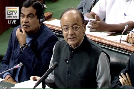 Finance Minister Arun Jaitley presenting the budget in Parliament on Tuesday.