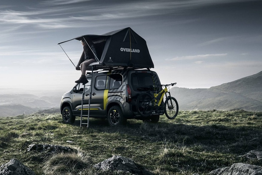 Peugeot Rifter 4x4 concept with Overland Tent. (Image: Puegeot)