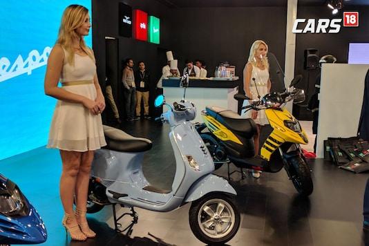 Piaggio at Auto Expo 2018. Representational image. (Photo: Manav Sinha/ News18.com)